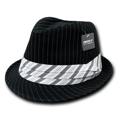 Picture of Pinstriped Fedora Hat