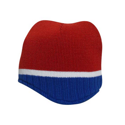 Picture of Beanie With Trim And Fleece Lining