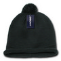 Solid RollUp Beanie w/PomPom