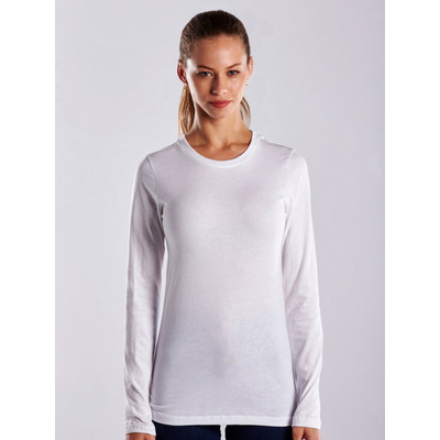 Picture of WOMEN'S LONG SLEEVE JERSEY CREW - White