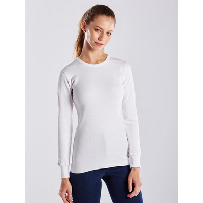 Picture of WOMEN'S LONG SLEEVE THERMAL CREW - White