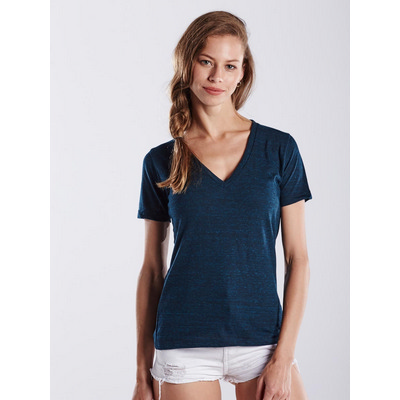 Picture of WOMEN'S TRI-BLEND V-NECK - OVER-DYED