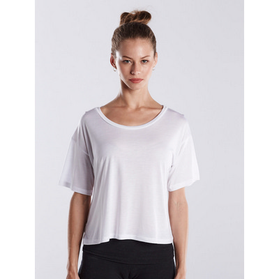 Picture of WOMEN'S BOXY OPEN NECK TOP - White