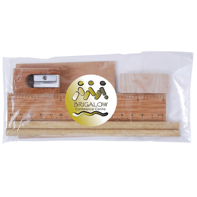 Picture of Bamboo Stationery Set in Cello Bag