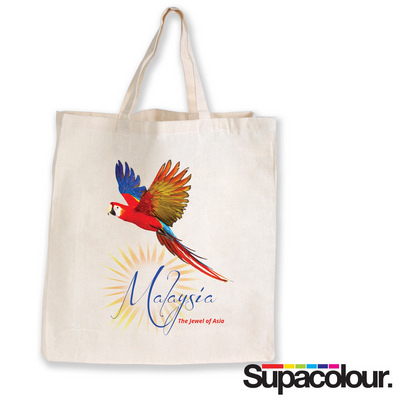 Picture of Supa Shopper Short Handle Calico Bag - 1
