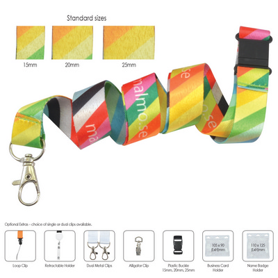 Picture of Polyester Sublimation Lanyard