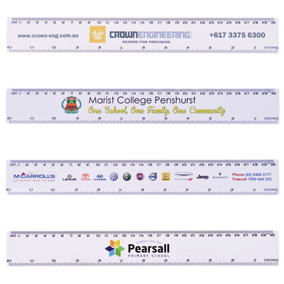 Picture of White 30cm Premium Plastic Ruler