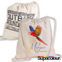 Calico Library Back Pack with Drawstrings- 200 GSM