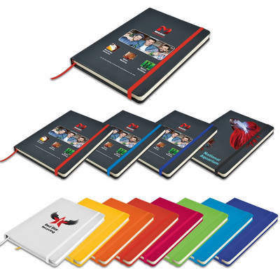 Picture of Venture A5  PU Notebook with Elastic