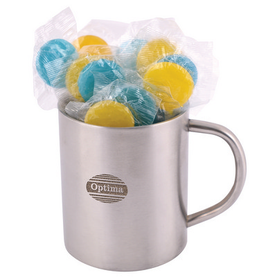 Picture of Corporate Colour Lollipops in Double WallStainless Steel Barrel Mug