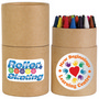 Assorted Colour Crayons in Cardboard Tube