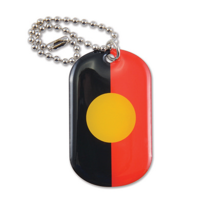 Picture of Epoxy Domed Dog Tag Keychain