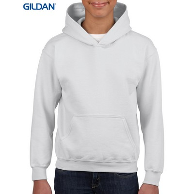 Picture of Gildan Heavy Blend Youth Hooded Sweatshirt White
