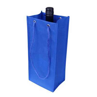Picture of Non Woven Single Bottle Bag With Rope Ha