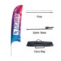 Small(65*200cm) Concave Feather Banners