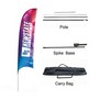 Large(80.5*400cm) Concave Feather Banners