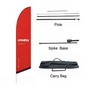 Large(80.5*400cm) Angled Feather Banners