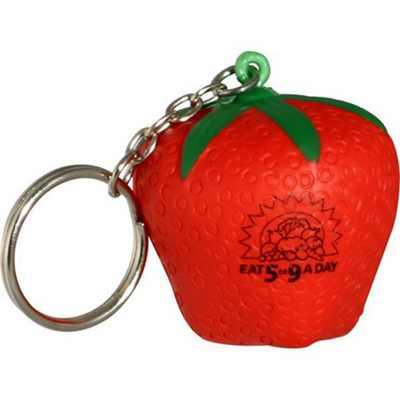 Picture of Strawberry With Keyring Stress Item