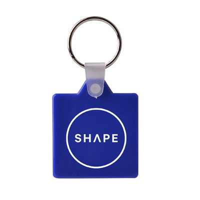Picture of Square Hard Plastic Keyring