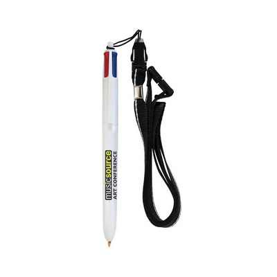 Picture of BIC 4-Colour Pen with Lanyard