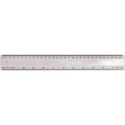 Picture of Ruler 30cm Translucent Clear