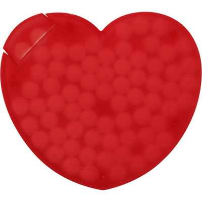 Picture of Heart shaped plastic mint card