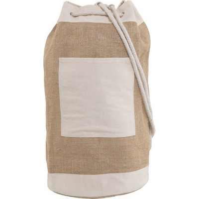 Picture of Jute duffel bag with metal eyelets