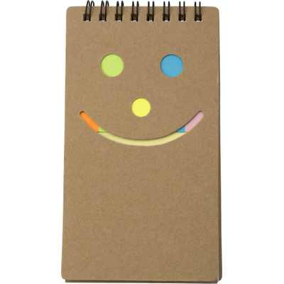 Picture of Notebook with sticky notes.
