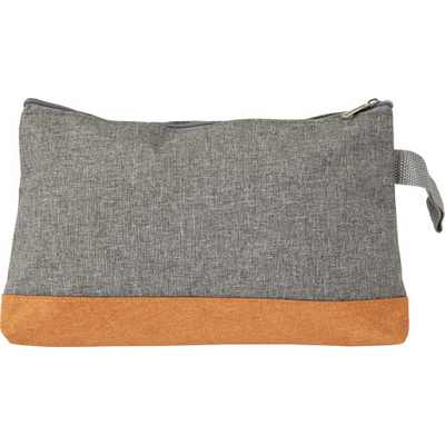 Picture of Poly canvas toiletbag, with zipper.