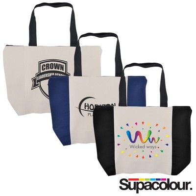 Picture of Carry All Calico Zip Bag - 305 GSM