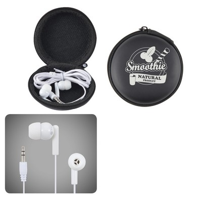 Picture of Earbud / Headphone Set in Round EVA Zipp