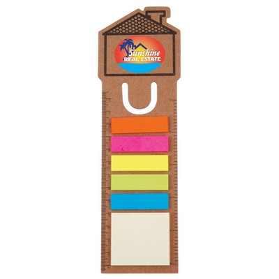 Picture of House Bookmark / Ruler with Noteflags
