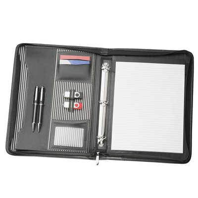 Picture of A4 Zippered Compendium with Removable 3