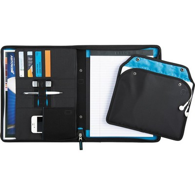 Picture of Zoom® 2-In-1 Tech Sleeve Zip Padfolio