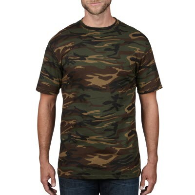 Picture of Anvil Adult Midweight Camouflage Tee Col