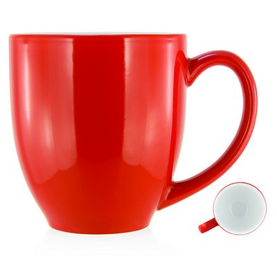 Picture of Deauville Ceramic Mug White Inner/Red Ou
