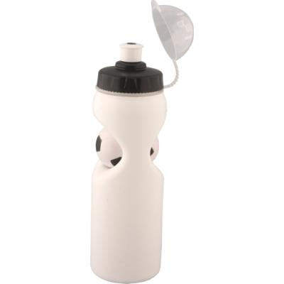 Picture of Sporty Soccer Drink Bottle. Black & White