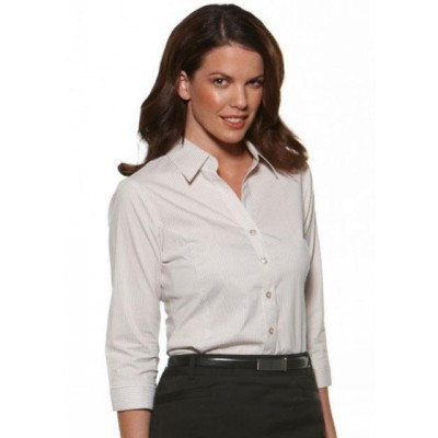 Picture of Stretch Stripe - Semi Fit 3/4 Sleeve Business Shirt