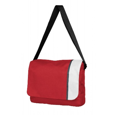 Picture of Spectrum Basic Flap Satchel Red/White