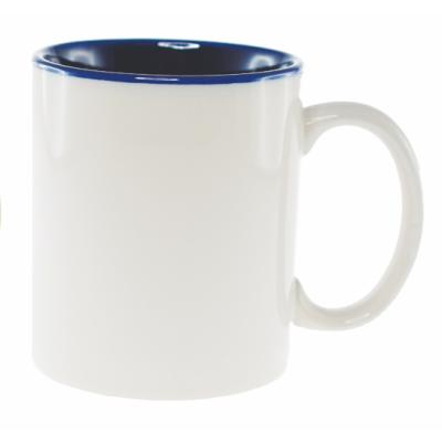 Picture of Sublimation Classic Can Coffee Mug - White/Cobalt