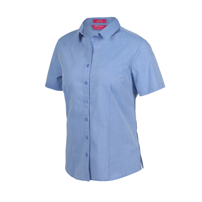 Picture of JBs Ladies Classic S/S Fine Chambray Shirt