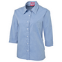 JBs Ladies 3/4 Fine Chambray Shirt