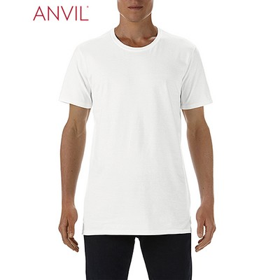 Picture of Anvil Adult Lightweight Long and Lean Tee White