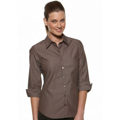 Picture of Model Stripe - Semi Fit 3/4 Sleeve Business Shirt