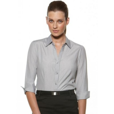 Picture of Deluxe - Fitted 3/4 Sleeve Business Shirt