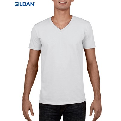 Picture of Gildan Sofystyle Adult V-Neck T-Shirt White