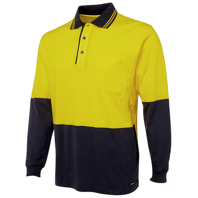 Picture of JBs Hi Vis L/S Cotton Polo