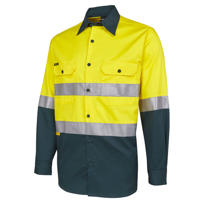Picture of JBs Hi Vis L/S (D+N) 150G Work Shirt