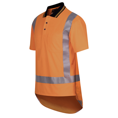 Picture of JBs Hi Vis (D+N) S/S Non Cuff Ttmc-W Traditional Polo