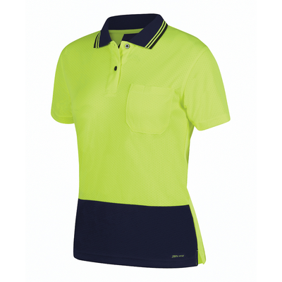Picture of JBs Hi Vis Ladies S/S Jacquard Polo